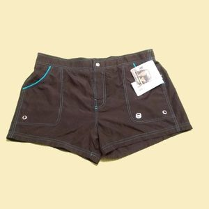 NWT Free Country Brown Board Shorts